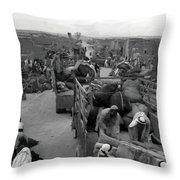 Iraq Al Manshiyya Evacuation 1948 Throw Pillow