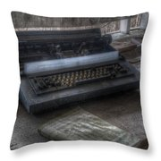 Iraq Typewriter  Throw Pillow