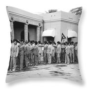 Iraqis Salute King Faisal Throw Pillow