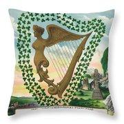 Ireland 1894 Throw Pillow