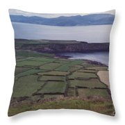 Ireland Emerald Isle Fields By Jrr Throw Pillow
