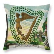 Irelands Historical Emblems Throw Pillow