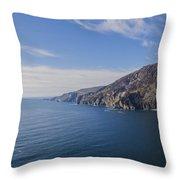 Irelands West Coast - Sleive League Throw Pillow