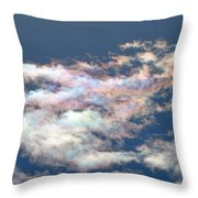 Iridescent Clouds Throw Pillow