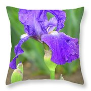 Iridescent Flower Throw Pillow