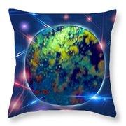 Iridescent Moon Throw Pillow