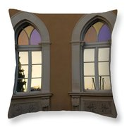 Iridescent Pastels At Sunset - Syracuse Arched Windows Throw Pillow
