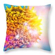 Iridescent Sun Throw Pillow