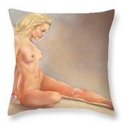 Irina Nude Throw Pillow