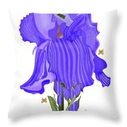Iris And Old Lace Throw Pillow