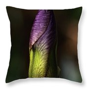 Iris Bud Throw Pillow