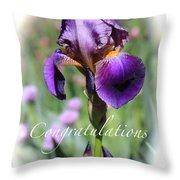 Iris Congratulations Card Throw Pillow