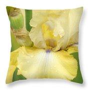 Iris County Cork Throw Pillow