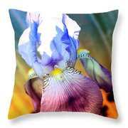 Iris Drama Throw Pillow