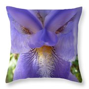Iris Face Throw Pillow