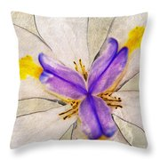Lily Flower Macro Photography Throw Pillow