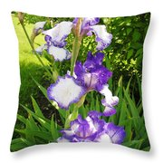 Iris Flowers Throw Pillow