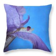 Iris Gem Throw Pillow