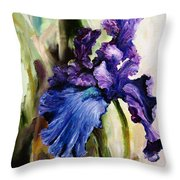 Iris In Bloom 2 Throw Pillow
