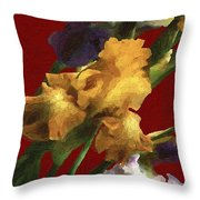Iris In The Rough Throw Pillow