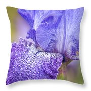 Iris Purple Pepper Throw Pillow