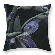 Iris Rain Throw Pillow