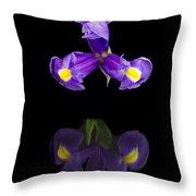 Iris Reflection Throw Pillow