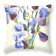 Irises Aglow Throw Pillow by Kip DeVore