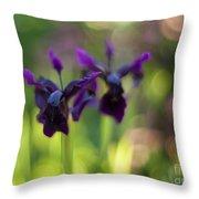 Irises Depth Throw Pillow