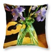 Irises In Morning Light Throw Pillow