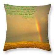 Irish Blessing Rain On The Prairie Throw Pillow