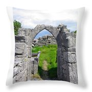 Irish Church Ruins Throw Pillow