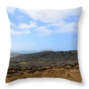 Irish Coast Throw Pillow