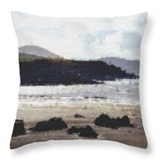 Irish Coast Pastel Chalk Throw Pillow