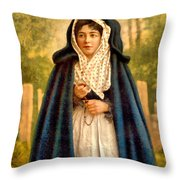 Irish Colleen Throw Pillow