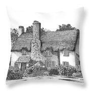 Irish Cottage In Ireland Throw Pillow