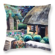 Irish Cottage Throw Pillow