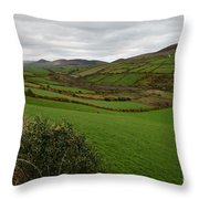 Irish Countryside Hdr Throw Pillow