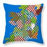 Irish County Gaa Flags Throw Pillow