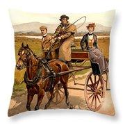 Irish Jaunting Car Throw Pillow