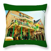 One Day In The Irish Channel Throw Pillow