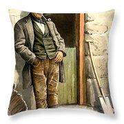 Irish Peasant Farmer Throw Pillow