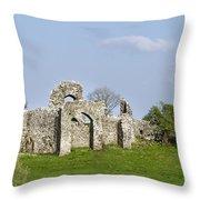 Irish Ruins Throw Pillow