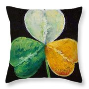 Irish Shamrock Throw Pillow by Michael Creese