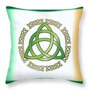 Irish Triquetra Throw Pillow