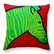 Irish Zebra Throw Pillow