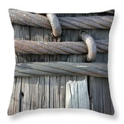Iron And Wood Throw Pillow