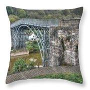 Iron Bridge Throw Pillow