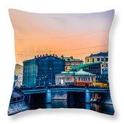 Iron Bridge Panorama Throw Pillow