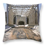 Iron Bridges Throw Pillow